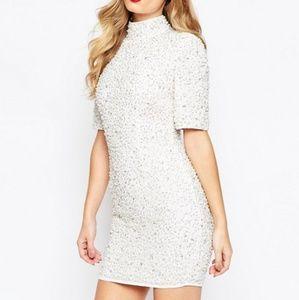 ASOS pearl embellished mini dress. NWOT